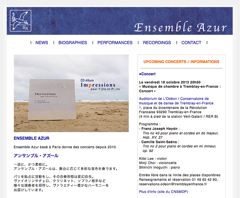 Ensemble Azur - site web
